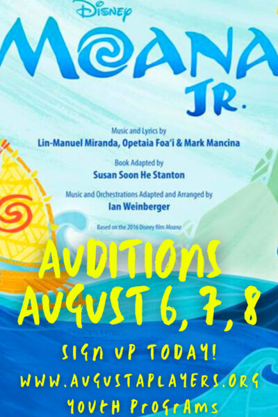 AUDITIONS AUGUST 6, 7, 8 UPDATE